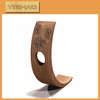 Made in China new design wooden wine holder ,leather wine holder