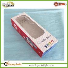 custom printed cardboard doll packaging box with clear pvc window