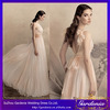 Custom Made Elegant A-line Scoop Neck Sexy Open Back Flower Knot Chiffon East Bridal Wedding Dress for Adult (WD102)