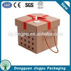 Fashionable bowknot kraft paper wedding favor box in china