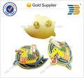 2014 mejores años de oro de cocodrilo de metal insignia de venta al por mayor personalizado logotipo de la empresa de metal pin de solapa