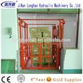 china estacionaria ferrocarril hidráulico elevador de carga