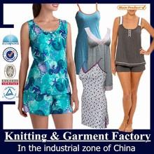 Mujeres pijamas de seda / médica pijamas / shantou fábrica de pijama