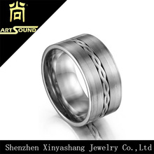 Wholesale mens jewelry titanium 316l stainless steel rings