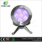 6W LED underwater light housing for pool lighting