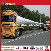 60 - 70 tons heavy duty wind power equipment / wind blade transport semi trailer