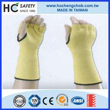 """ce en388 10"""" 14"""" Kevlar knit cotton long custom fingerless gloves"""