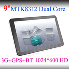 9 inch tablet pc MTK8312 dual core Android 4.2 CPU dual camera 3G/GPS/BT