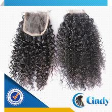 wholesale classic natural brazilian human top closure hair pieces for black women