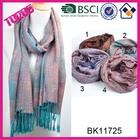 Wholesale new design blue acrylic scarves jacquard pashmina shawls cashmere scarf