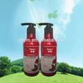 2014 vendas quentes shampoo orgânico em nova garrafa de 330ml