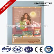 WGY 2mm hpl Custom design hot plate/hpl plate