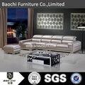 Baochi apartamento libre de madera para los muebles, pvc sofá de cuero, taburete de cuero a165