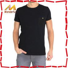 2014~2015 hot-selling trendy blank black t shirt/men's cotton black t shirt with high quality