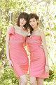 alibaba 2014 un hombro corto acanalada mini vestido de regreso a casa vestidos de dama de honor de color coral