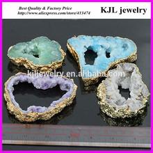 KJL-A0104 mix color druzy pendant,fashion necklace pendant jewelry charm,hot geode druzy quartz stone pendant