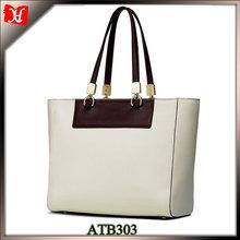 2014 white ladies leather bag custom printing woman designer bag