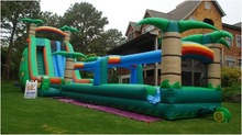 2014 popular big inflatable water slide for sale,inflatable fire truck slide