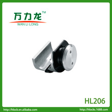 stainless steel sliding door 25mm tube clamp fixing for track to glass