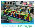 Chine grande utilisation commerciale pas cher paintball des obstacles gonflables cours tunnel combos jouer terrestres aire de jeux pour enfants à vendre
