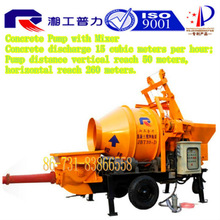 concrete mixing pump trailer