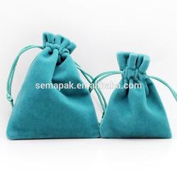 Small size colour printed velvet drawstring bags/drawstring gift bag/drawstring gift pouch