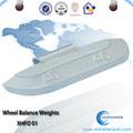 China fornecedor roda balanceamento pesos de chumbo com roda de aço