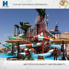 fiberglass slides mini water park for hotel