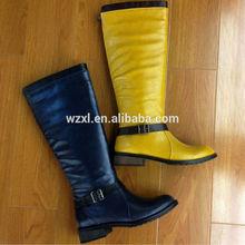 knee buckle back zip lady boot , full length inside zip boot