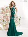 Vente chaude élégant une épaule robe de soirée en satin vert émeraude musulman. tarik ediz 92364 2014 robe de soirée en turc