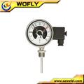la tubería de gas de contacto eléctrico termómetro de metal