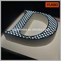 alfabeto de acrílico signo de la letra con luz led