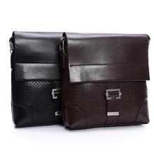Bag Men PU Leather Messenger Shoulder Bag Men Tote Handle Black Color Fashion Business Men Bag