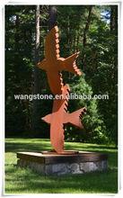 Vivid design eagle statues corten steel sculpture