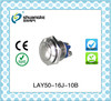 16mm LAY50-16J-10B Round momentary reset metal push button,Nickel-plated brass/stainless steel push button switch