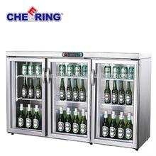bar equipment guangzhou manufacture counter top glass door display freezer for beer beverage cooler drink refrigerator