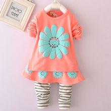 M60849A wholesale long sleeve cotton girl boutique clothing set