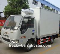4x2 JAC 1 ton gasoline mini refrigerated cargo van