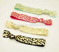 papel de aluminio estampado de leopardo lazo de pelo elástico más de doble banda elástica del cabello