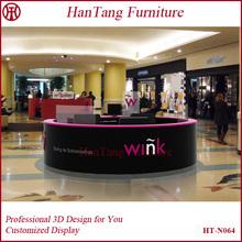 Profesional del diseño muebles de salón de uñas / nail kiosco venta / de barras único diseño de la mesa de envío