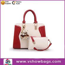 Manufacture promotion office lady genuine brand PU leather shoulder handbag