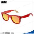 de madera de encargo láser gafas de sol polarizadas logotipo y espejo de la lente gafas de fábrica de china dropshipping vasos