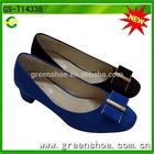 latest light blue ladies low heel dress shoes