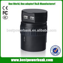 HC-108-2 2014 Unique 5v 2.1a travel plug universal ac dc adapter usb ac adapter