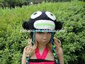 lovely colores multi sombreros de fantasía para niña con ganchillo