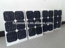 Best sell bluesun high efficiency low price 20W semi flexible solar panel