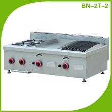 El restaurante mostrador de la cocina equipo/gama de gas cocinas/italiano se utiliza gas fogones bn-2t-2