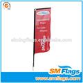 caliente la venta de publicidad al aire libre bandera rectangular soporte de la bandera con la comercialización y los deportes de estilo