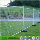 Mobile Barrier Fence pvc Iron Portable Fence Panels