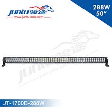 Juntu new Epistar 3w dual row light, high intensity 50inch 12v 288w led work light bar